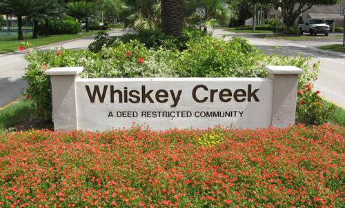 Whiskey Creek Subdivision in South Fort Myers