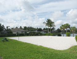 Volleyball Court at Reflection Lakes Fort Myers Florida