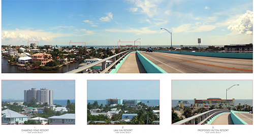 Fort Myers Beach Proposal Skyline with scale