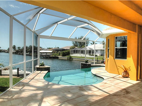Cape Coral Waterfront Pool Home