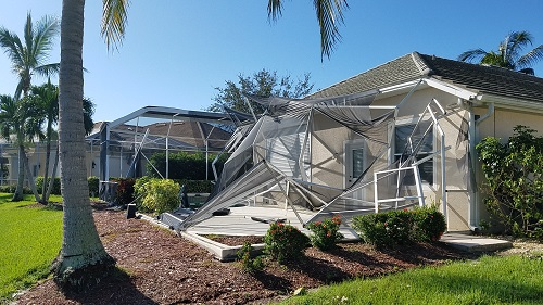 Southwest Florida Real Estate After Hurricane Irma Older Pool Cage
